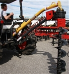 "6900 Tractor Post Hole Digger Omni PHD-26 Gearbox  Category 1, Tractor 3 Point Hitch, PTO driven, For up to 12"" Auger size, Everything Attachments Post Hole Digger, HD Post Hole Driller with 4"". 6"", 9"" or 12"" Auger w spiral tip, bolt on teeth, Shear Bolt"