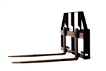 "Compact Pallet Forks with 42"" Tines"
