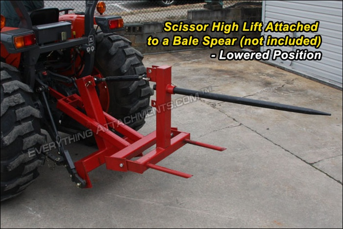Homemade 3 Point Hydraulic Top Link : Fred cain tractor point hitch scissor high lift hay