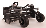 "Harley Rake, Skid Steer Power Box Rake M.5H 60"" Hydraulic Angle"