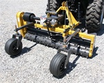 "Harley Rake, Tractor PTO Power Box Rake TM-7 series, 84"" working width Free Shipping from Everything Attachments, Harley Rakes by Glenmac, Made in USA, adjustable barrier determines the size of material that passes, angle 15 degrees, Landscape Rake online"