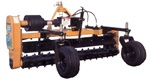 "Harley Rake, Tractor PTO Power Box Rake TM-8 series, 96"" working width Free Shipping from Everything Attachments, Harley Rakes by Glenmac, Made in USA, adjustable barrier determines the size of material that passes, angle 15 degrees, Landscape Rake online"