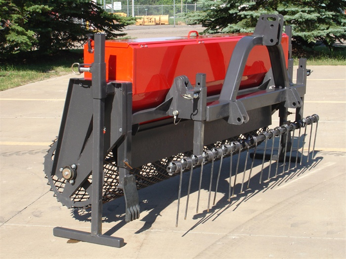 Compact Tractor Seeder : Tractor ps series point hitch harley power seeder