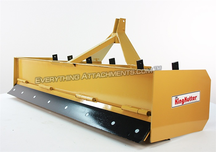 2 Blade Box Cat : King kutter professional hinged back tractor box blade