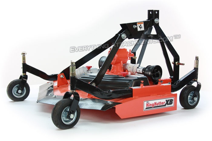 Offset Finish Mower : King kutter s quot xb rear discharge finish mower