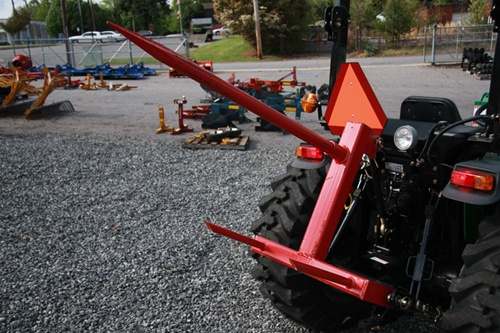 3 Point Hitch Scissor Lift : Fred cain tractor point f hay bale spear mover