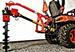 "Land Shark Compact Tractor Post Hole Digger Omni PHD-26 Gearbox Category 1, Tractor 3 Point Hitch,   PTO driven, For up to 12"" Auger size, Everything Attachments Post Hole Digger,  Post Hole Driller with 4"". 6"", 9"" or 12"" Auger w spiral tip"