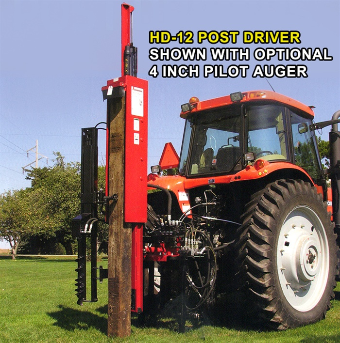Hydraulic Post Drivers For Tractors : Shaver post driver model hd tractor pt hitch