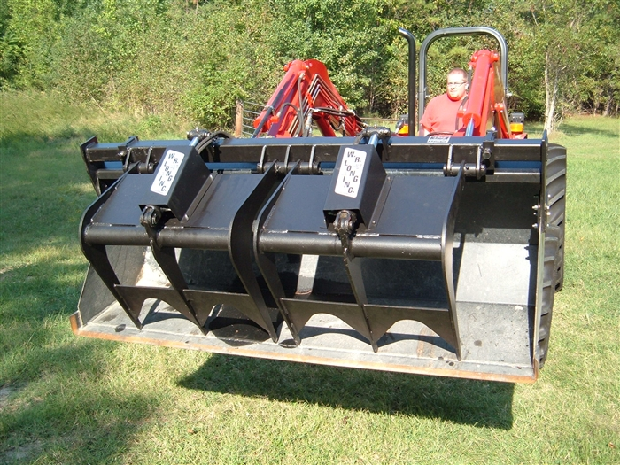 Bolt On Grapple : Bucket grapple bolts on to your loader single and
