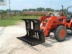 W R Long Open Bottom Grapple OBG-2 for Subcompact and small compact tractor loaders