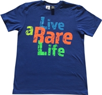 Youth Crew Neck T Shirt with Live a Rare Life  on front
