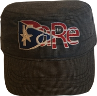 Navy Military Hat with PR DTBR logo