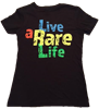 Ladies V Neck with Live a Rare Life yellow