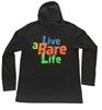 Adult Long Sleeve Hoodie with Live a Rare Life Orange