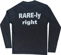 Long Sleeve Crew Neck T Shirt with RARE-ly Right Logo