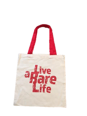 Canvas Tote Bag with Live a Rare Life logo