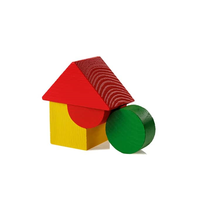 3-Piece Wooden Block Set