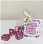Organic Cherry-Lavender Chocolate Hearts