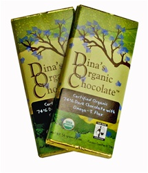 Dina's Organic Chocolate with Omega-3 Flax  Bar 2oz