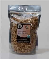 ORGANIC WHOLE OAT GROATS 1LB