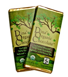 Dina's Organic Chocolate Green Tea Bar 2oz