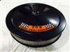 Black Air Cleaner Performance White Filter 14 x 3 w/ 302 High Performance Decal
