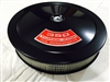 Black Air Cleaner Performance White Filter 14 x 3 w/ 350 Turbo-Fire Decal