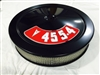Black Air Cleaner Performance White Filter 14 x 3 w/ Pontiac 455-4 Decal