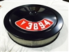 Black Air Cleaner Performance White Filter 14 x 3 w/ Pontiac 389-4 Decal