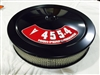 Black Air Cleaner Performance White Filter 14 x 3 w/ Pontiac 455-4 High Performance Decal