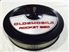 Black Air Cleaner Performance White Filter 14 x 3 w/ Olds Rocket 350