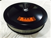 Black Air Cleaner Performance White Filter 14 x 3 w/ 352 4V Premium Fuel Decal