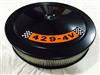 Black Air Cleaner Performance White Filter 14 x 3 w/ 429-4V Decal