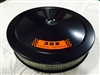 Black Air Cleaner Performance White Filter 14 x 3 w/ Ford 302 Decal