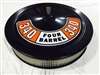 Black Air Cleaner Performance White Filter 14 x 3 w/ Ford 340 Four Barrel Decal