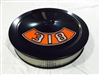 Black Air Cleaner Performance White Filter 14 x 3 w/ Ford 318 Decal