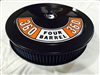 Black Air Cleaner Performance Blue Washable Filter 14 x 3 w/ Ford 360 Four Barrel Decal