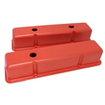 Orange Valve Covers SB Chevy 283-400 Tall