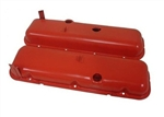 Steel OEM Valve Covers Orange BB Chevy 396-502 Stock Height