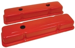 Orange Valve Covers SB Chevy 283-400 OEM Style