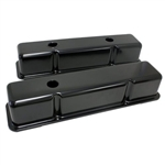 Black Valve Covers SB Chevy 283-400 Tall
