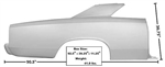 1966-67 Chevelle Full Coupe Quarter Panel RH With Sail Weld-Through Primer
