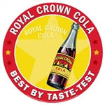 Royal Crown Cola - Best by taste-test Sign