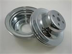 SB Ford Chrome 1 Groove / Belt Pulley Kit 65.5 -66 289 V-8 Hot Rod Rat Rod