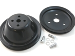 SB Chevy SBC Short Pump Black Steel 1 Groove Pulley Kit W/ Bolts 283 327 350 V8