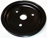 New SB Chevy Semi Gloss Black EPC 1 Groove / Belt Short Pump Crank Pulley V8
