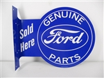 Genuine Ford Parts Sold Here Double Sided Tin Sign
