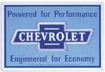 Chevy Emblem Powered by Performance Blue