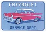 1957 Chevy Chevrolet Service Dept. Red