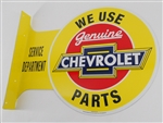 We Use Genuine Chevrolet Parts Double Sided Tin Sign
